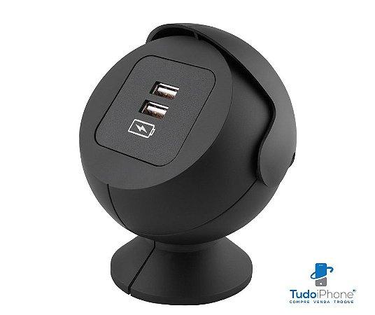Carregador USB de Mesa c/ 2 Entradas USB e Cabo de 1,5m - Netbox Pearl