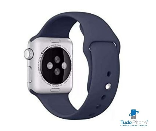 Pulseira Apple Watch - Silicone Tradicional 42/44mm - Azul Escuro