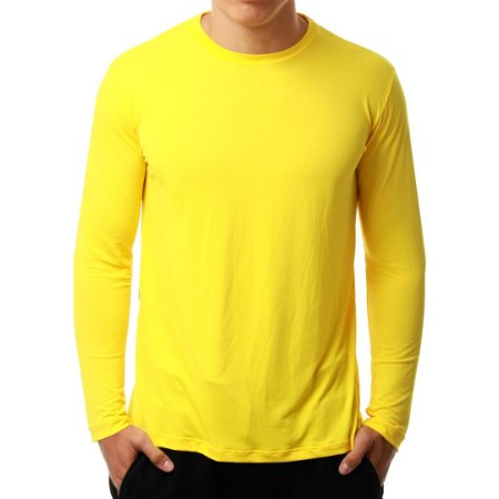 Camiseta Manga Longa Running Basic Monaro Amarela