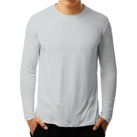 Camiseta Manga Longa Running Basic Monaro Cinza