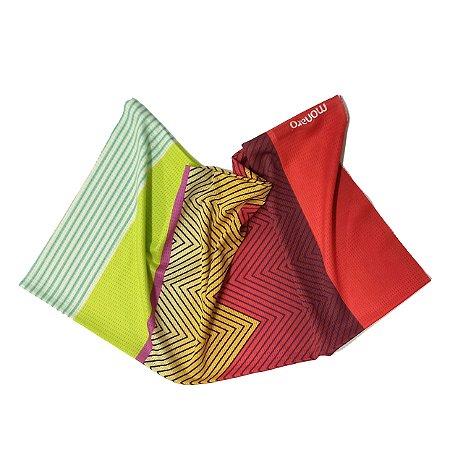 Bandana Buff Tubular Color Mix Ciclismo e Caminhada Monaro