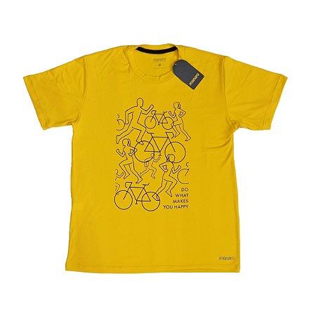 Camiseta Poliamida Esporte Premium Do What Makes You Happy Monaro