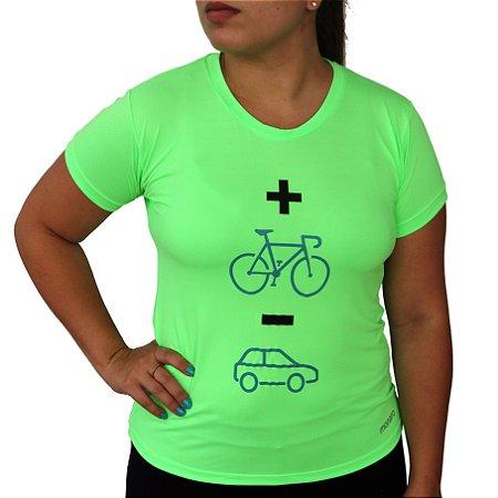 Baby Look Poliamida Esporte Running Mais Bike Menos Carro Monaro