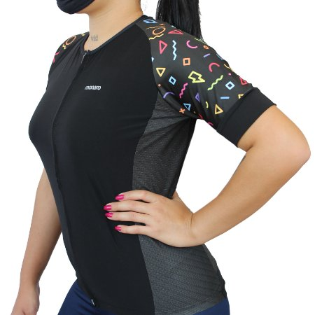 Camisa Ciclismo Feminina Símbolos Comfort Premium Monaro