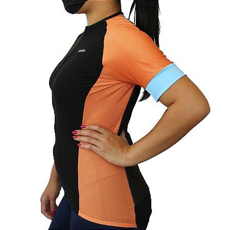 Camisa Ciclismo Feminina Tangerine Comfort Premium Monaro