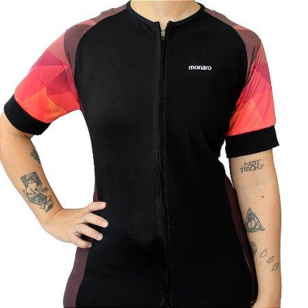 Camisa Ciclismo Feminina Red Triangle Comfort Premium Monaro