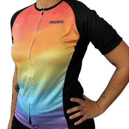 Camisa Feminina Ciclismo Tye Dye Comfort Classic Monaro