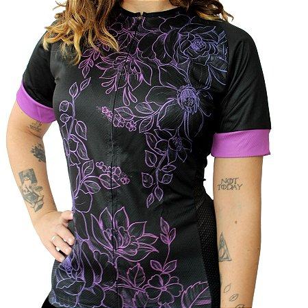 Camisa Feminina Ciclismo Floral Comfort Classic Monaro