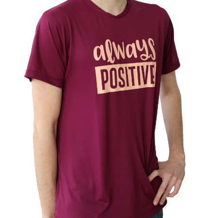 Camiseta Poliamida Esporte Running Always Positive Monaro