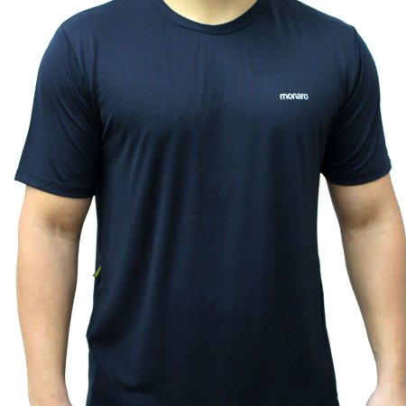 Camiseta Poliamida Esporte Running Tradicional Preto