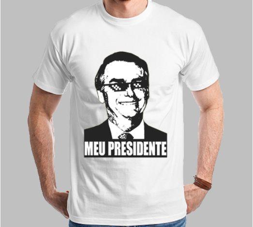 Camiseta Bolsonaro Meu Presidente (Super Econômica!!!)