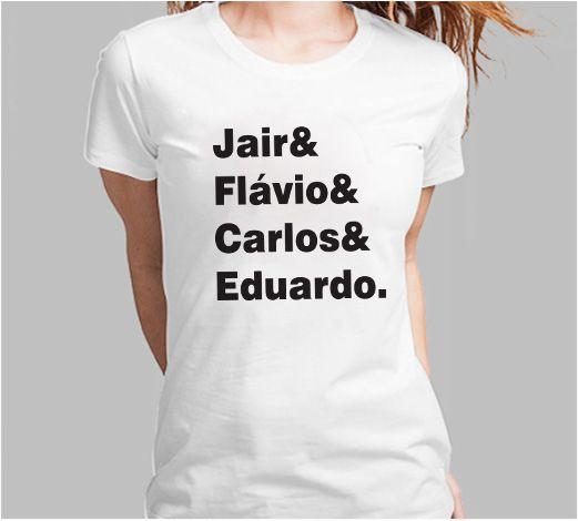 Camiseta Bolsonaro Nomes (Super Econômica!!!)