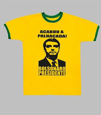 Camiseta do Brasil Acabou a Palhaçada Bolsonaro Presidente