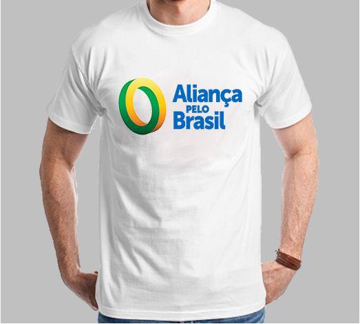 CAMISETA ALIANÇA PELO BRASIL (POLIÉSTER)