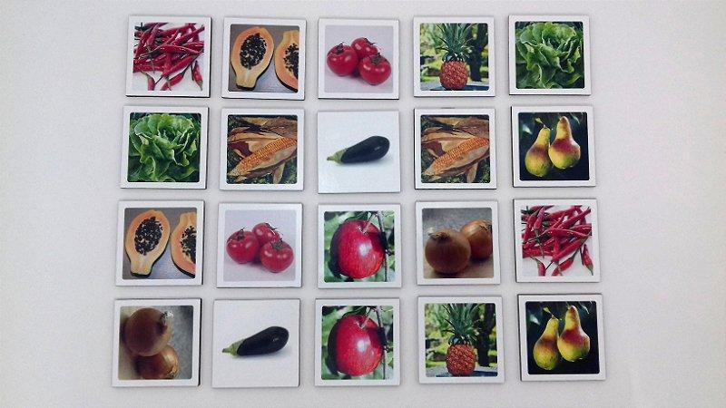 Jogo Memória Sênior Vegetais 24 pçs MLM2403 1 jogo 12 atividades Mundo Lúdico