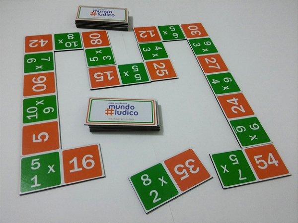 Dominó Multiplicação 24 peças Grandes MLS07 - Mundo Lúdico