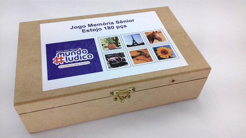 Jogo Memória Sênior 180 pçs MLM180E 1 jogo 20 atividades Mundo Lúdico