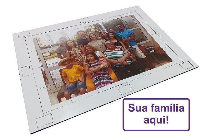Quebra cabeça Sênior Foto personalizada Família 24 pçs MLQ24P2 1 jogo 4 atividades Mundo Lúdico