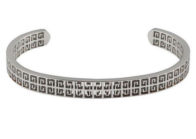 Pulseira de aço masculina estilo bracelete modelo Omega