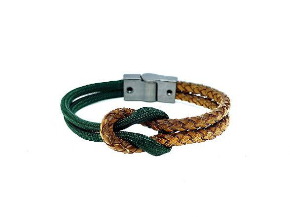Pulseira de corda masculina Nó de Marinheiro