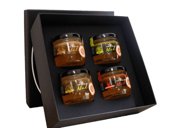 Caixa com 4 meles 150g - Linha Aromas & Sabores