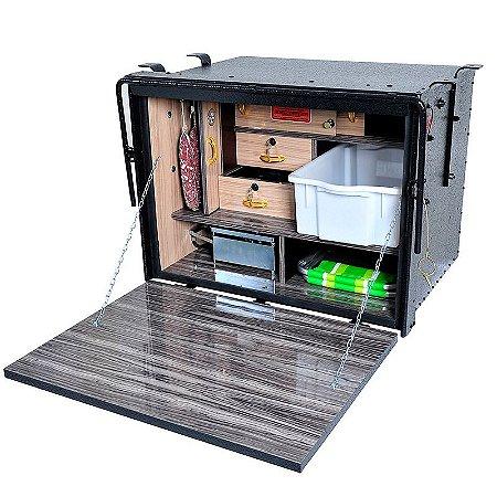 Caixa de Cozinha para Caminhão Truck Caibi 2 Andares 90 x 66 x 65