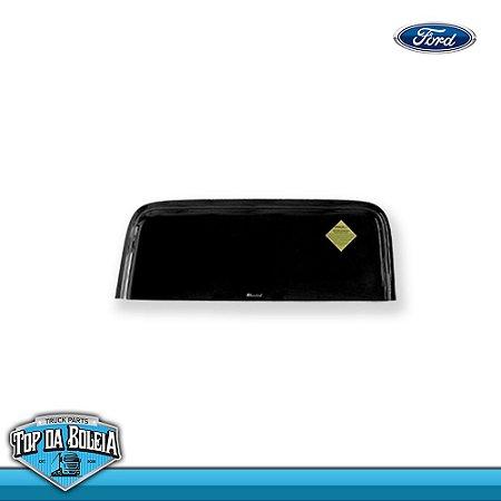 Calha de Chuva Porta para Caminhão Ford Cargo até 2011 Super Larga (Fix. Borracha)