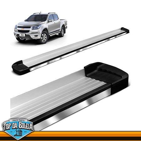 Estribo Lateral Alumínio Elegance Polido para Pick-up Chevrolet S-10 Cabine Dupla à partir de 2012