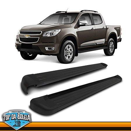 Estribo Lateral Alumínio Elegance Preto para Pick-up Chevrolet S-10 Cabine Dupla à Partir de 2012