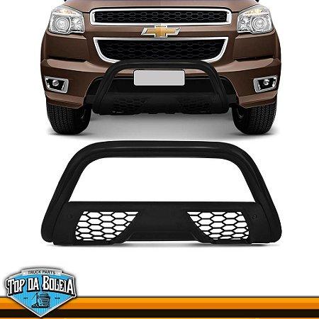 Quebra Mato Universal Com Grade Colmeia Preto para Caminhonete Chevrolet S-10 à Partir de 2012