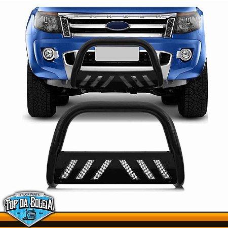 Quebra Mato Universal Com Grade Preto para Caminhonete Ford Ranger à Partir de 2013