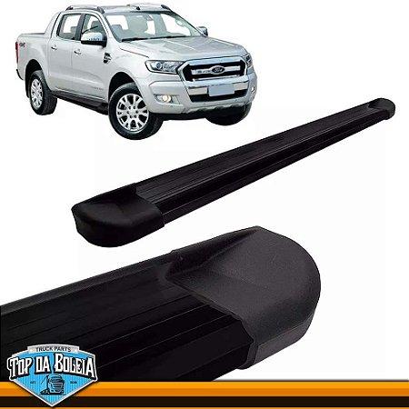 Estribo Lateral Alumínio G2 Preto para Pick-up Ford Ranger Cabine Dupla à Partir de 2013