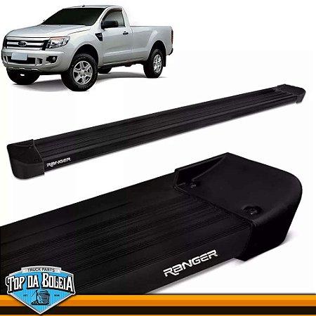 Estribo Lateral Alumínio G2 Preto para Pick-up Ford Ranger Cabine Simples à Partir de 2013