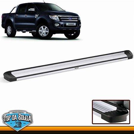 Estribo Lateral Alumínio Elegance Polido para Pick-up Ford Ranger Cabine Dupla à Partir de 2013