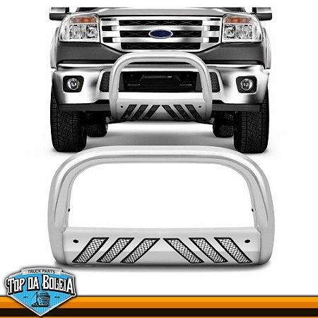 Quebra Mato Com Grade Cromado para Caminhonete Ford Ranger inferior à 2012