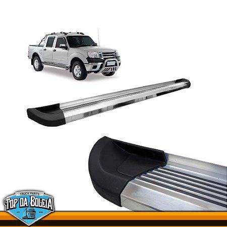 Estribo Lateral Alumínio G2 Polido para Pick-up Ford Ranger Inferior á 2012