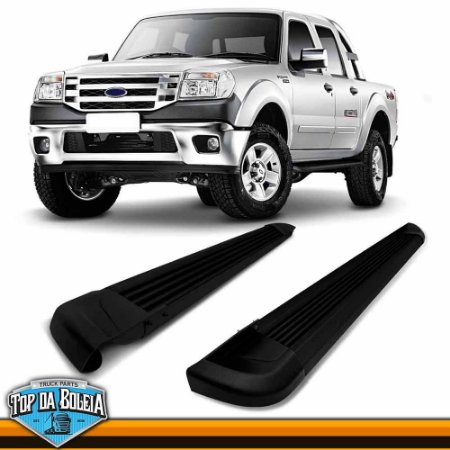 Estribo Lateral Alumínio G2 Preto para Pick-up Ford Ranger Inferior á 2012