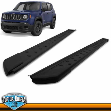 Estribo Plataforma Preto Para Jeep Renegade