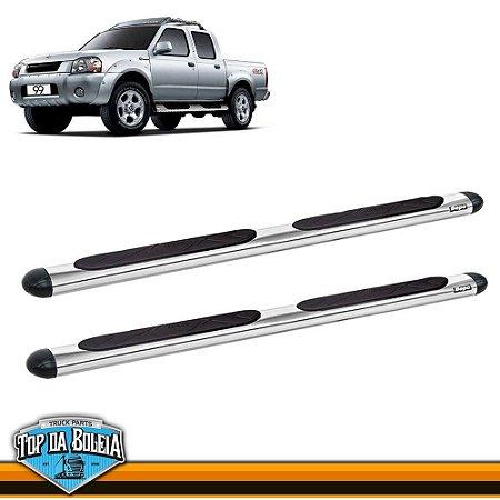 Estribo Alumínio Oval Cromado para Nissan Frontier Cabine Dupla de 2003 á 2007