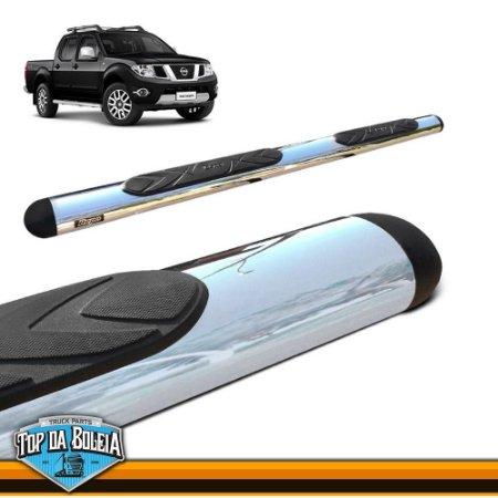 Estribo Alumínio Oval Cromado para Nissan Frontier Cabine Dupla de 2008 á 2015