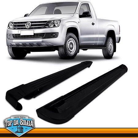 Estribo Alumínio G2 Preto para Pick-up Volkswagen Amarok Cabine Simples