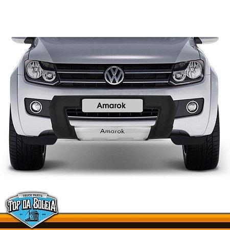 Overbumper Frente Preta para Volkswagen Amarok