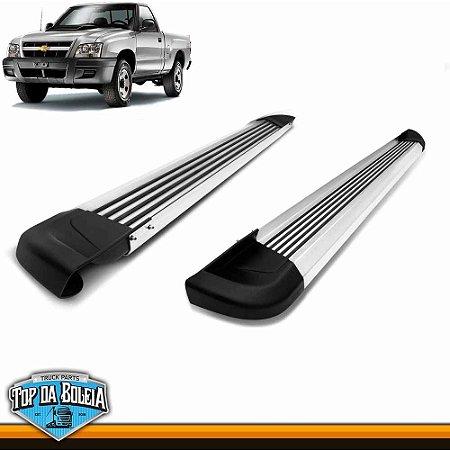 Estribo Alumínio G2 Polido para Chevrolet S10 Cabine Simples Inferior à 2011