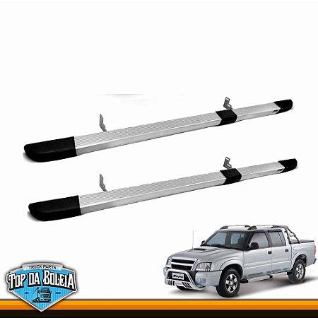 Estribo Retangular Alumínio para Caminhonete Chevrolet S10 Inferior à 2011