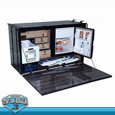 Caixa de Cozinha Caminhão Caibi Mega para Acoplar Geladeira Elber 73 Litros 1,40 x 85 x 63