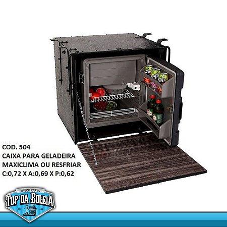Caixa para Geladeira Resfriar ou Maxiclima 67 Litros Caibi 73 x 69 x 62