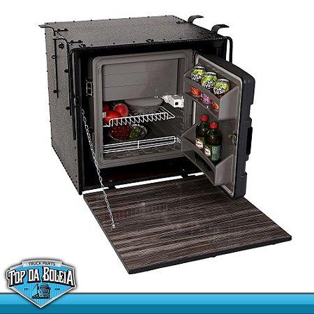 Kit Geladeira Resfriar Bivolt 67 litros com Caixa Externa de Proteção Caibi 73 x 69 x 62
