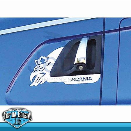 Moldura Inox Grifão Maçaneta de Porta Scania a Partir de 98