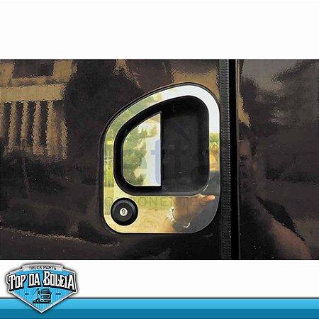 Par de Apliques em Inox Maçaeta de Porta para Ford Cargo Moderno