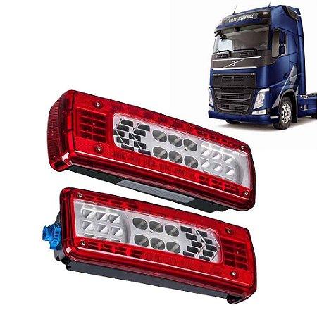 Par Lanternas Traseiras Caminhão Volvo LED LE LD Após 2014